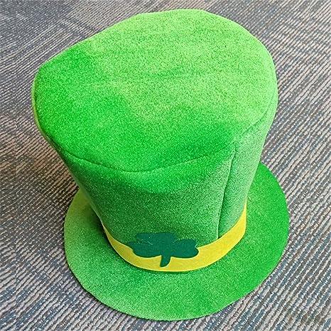 SCHOLIEBEN Cappello per Adulto Irlandese Verde di San Patrizio Cappello in Velluto  di Lana per Uomo e Donna  Amazon.it  Abbigliamento 87a9c446e3c2