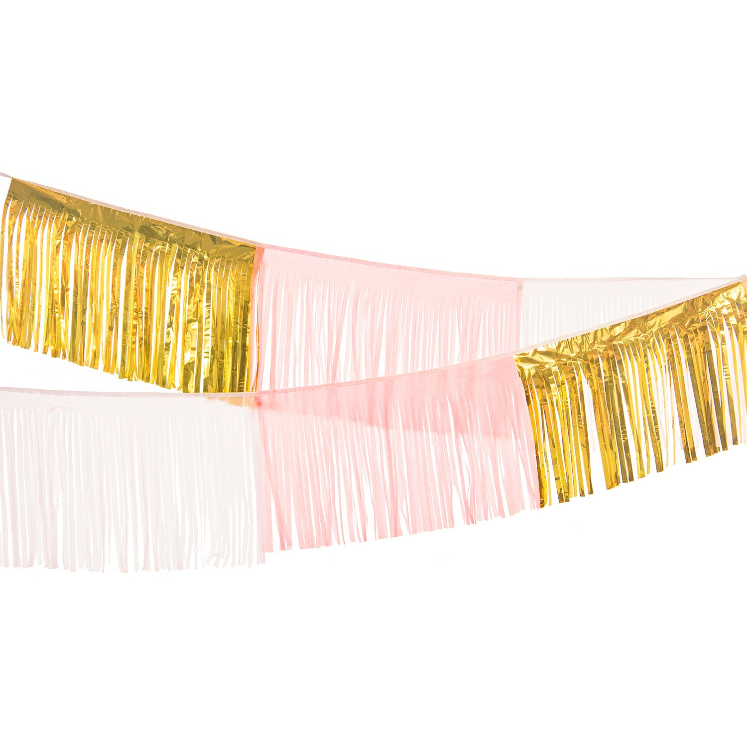 Ling's moment 9FT Tassel Banner Garland, Handmade Fiesta Fringe Garland, Tissue Tassel Garland, Fiesta Backdrop Banner for Wedding Cinco de Mayo Fiesta Engagement Birthday Cactus Bridal Shower Ling's moment