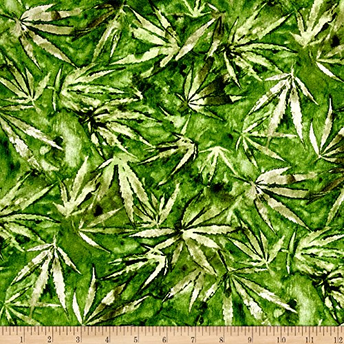 Cannabis Green Fabric By The Yard