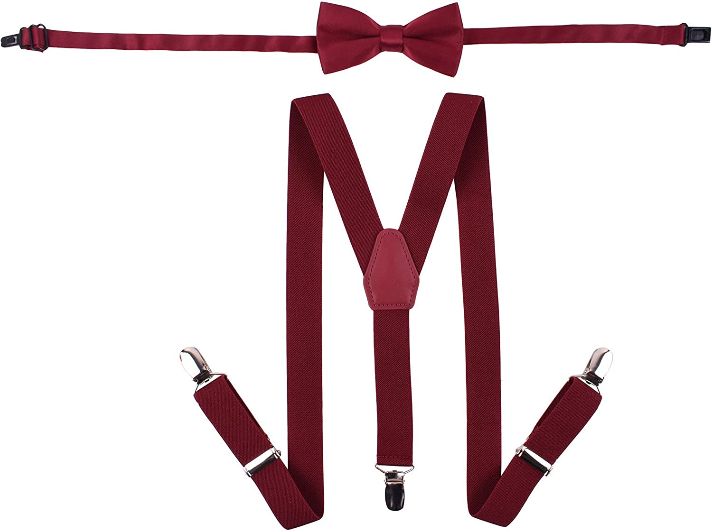 WDSKY Baby Boys Bow Tie and Suspenders Set Fashion Y Back EKSUYsIbcTzq001