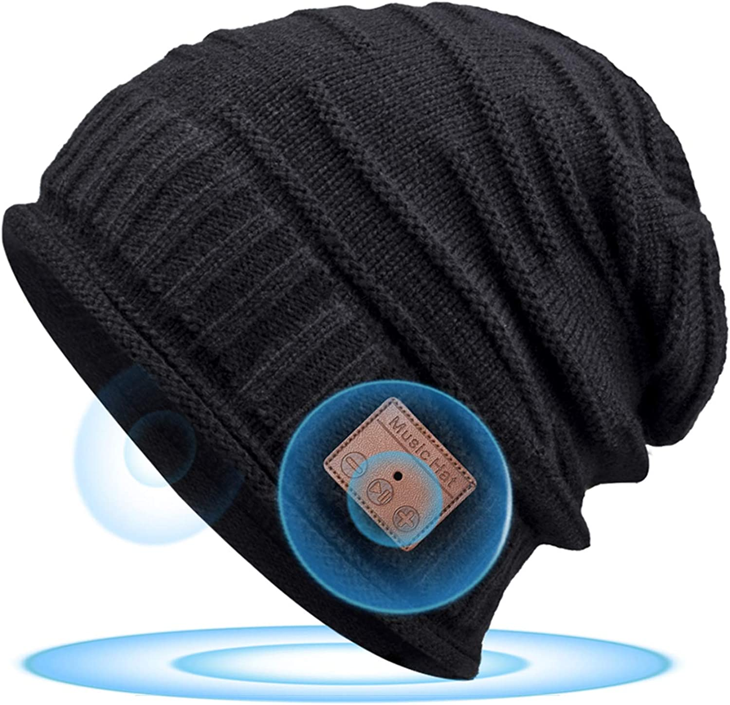 Bluetooth Beanie for Men Bluetooth Hat, Stocking Stuffers for Men Women, Birthday for Men Women Husband for Teenage Boys Teen, Cool Tech Gifts for Him, Presents for Men