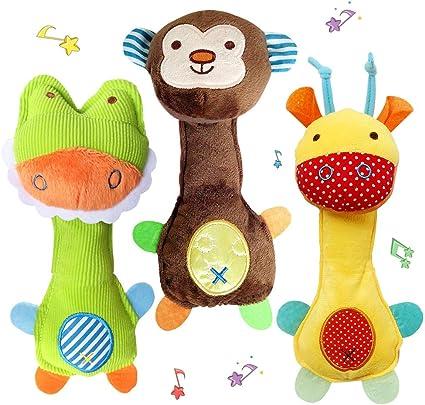 Juego De Juguetes De Sonajeros Suaves Para Bebés Recién Nacidos Juguetes Para Bebés Para Niñas Y Niños Regalos De Desarrollo Temprano Para Juguetes De Bebé 0 3 3 6 6 A 12 Meses