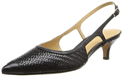 FrenchTrotters Women's 'Kimberly' Woven Leather Slingback Pump