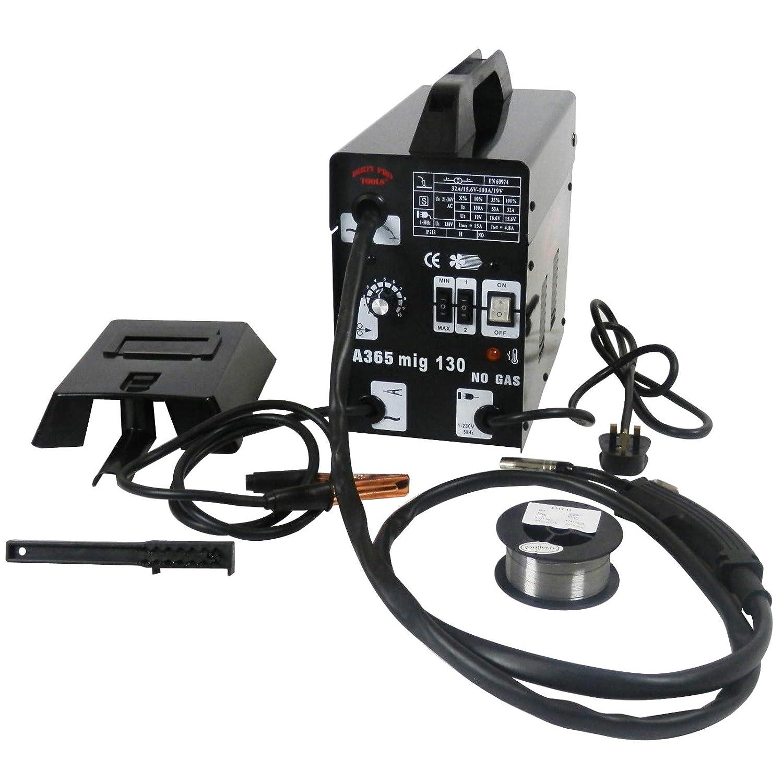 MIG 100 Amp MIG Welder Gasless No Gas Flux 230V Machine Welding MASK