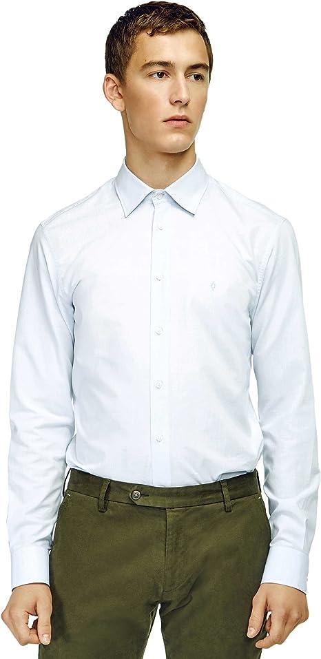 Caramelo, Camisa Slim Cuello Inglés, Hombre · Azul Celeste ...