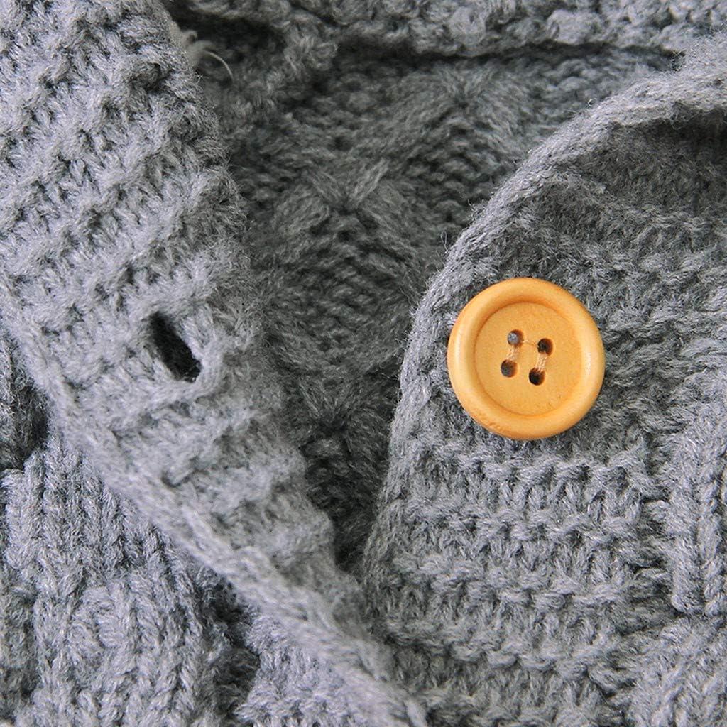 BUKINIE Manteau dhiver pour b/éb/é pour b/éb/é Pull /à Capuche Mignon Cardigans Manteaux en Tricot de Coton
