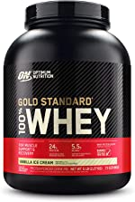Optimum Nutrition Gold Standard 100% Whey Protein Powder, Vanilla Ice Cream,