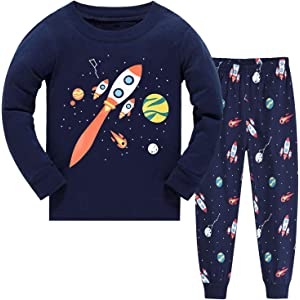 Little Boys Pyjamas Sets Boys Pjs Dinosaur Print Sleepwear Set Toddler Kids Clothes for Age 1-7 Years
