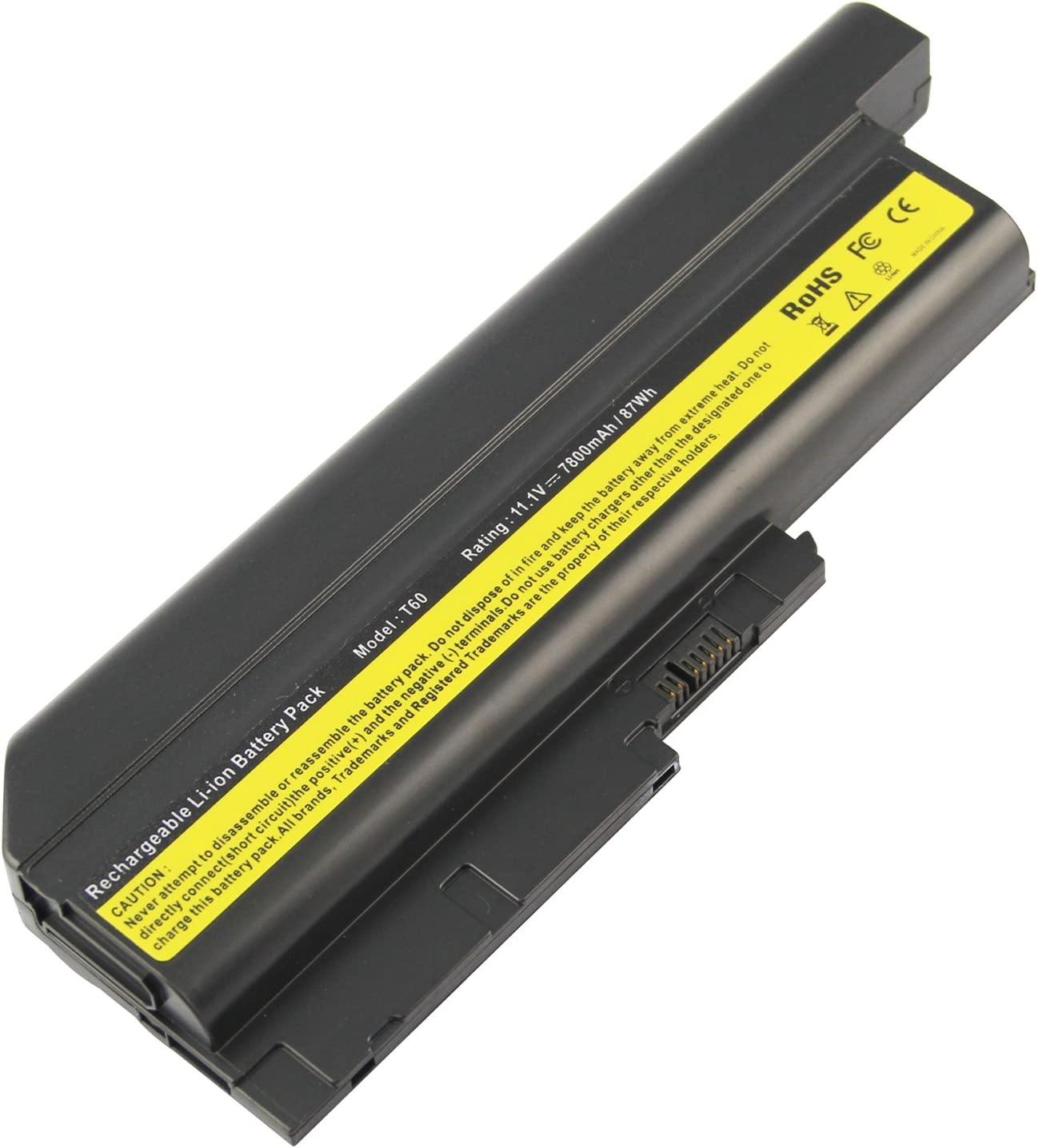 Futurebatt 9 Cell 7800mAh Laptop Battery for IBM Lenovo Thinkpad R60 R60E R61 R61E R61I T60 T60P T61 T61P Z60 Z61 Z61p R500 T500 W500 SL500 SL400 SL300 40Y6799 42T4621 Notebook