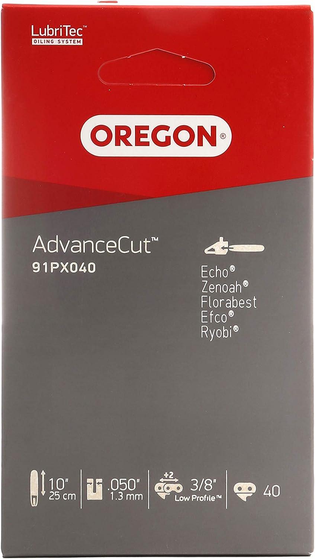 "Oregon AdvanceCut - Cadena para Motosierra de Altura, paso de 3/8"", calibre 0,050"", 40 eslabones en barra de 25 cm (10""). Compatible con: Ryobi, Black & Decker, Einhell"