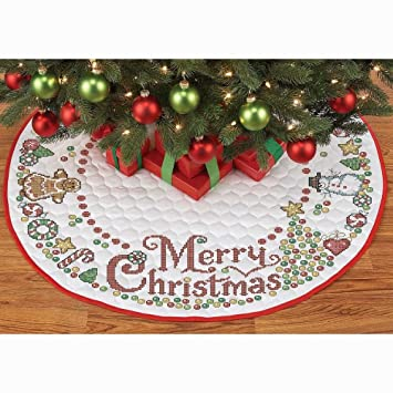 herrschners gumdrop christmas tree skirt stamped cross stitch