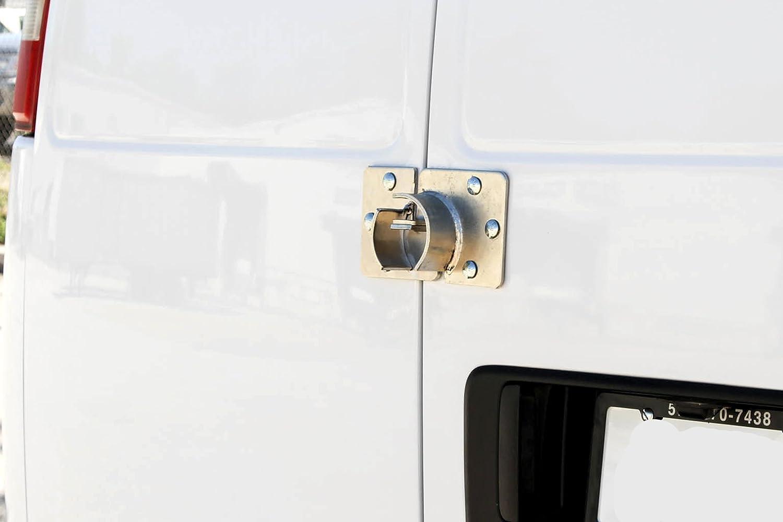 Alta seguridad remolque puerta aldaba para candado de disco de hockey Interior oculta grillete cerraduras Heavy Duty círculo protección con garantía: Amazon.es: Coche y moto