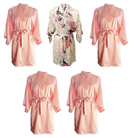 Party Pack Set of 5 Pretty Hen Party Getting Ready Robes 20e747d4f