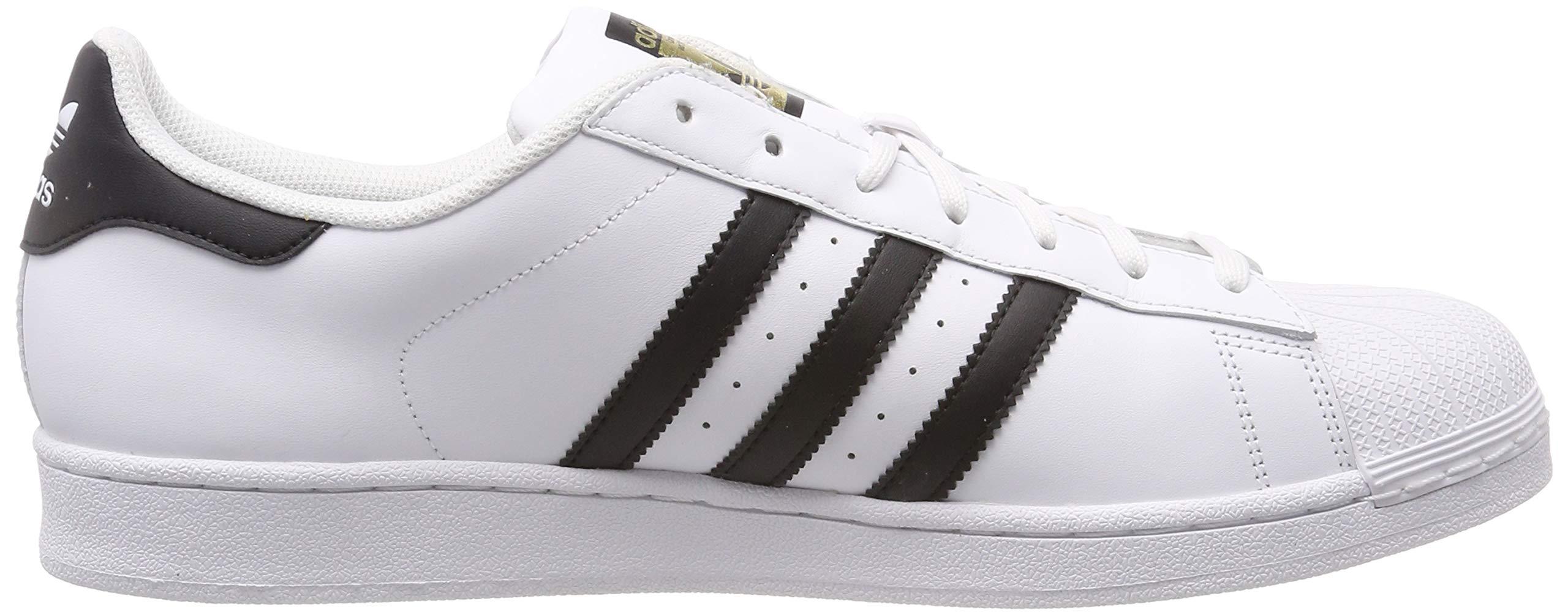 Bianco Nero Adidas C77124 Unisex Pelle Originals Scarpe 44 Superstar fxwaatzqn