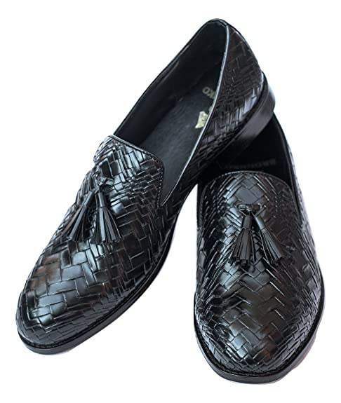 3029c127add Bronnko Black Tassel Loafers Mens Formal   Casual Shoes  Buy Online at Low  Prices in India - Amazon.in