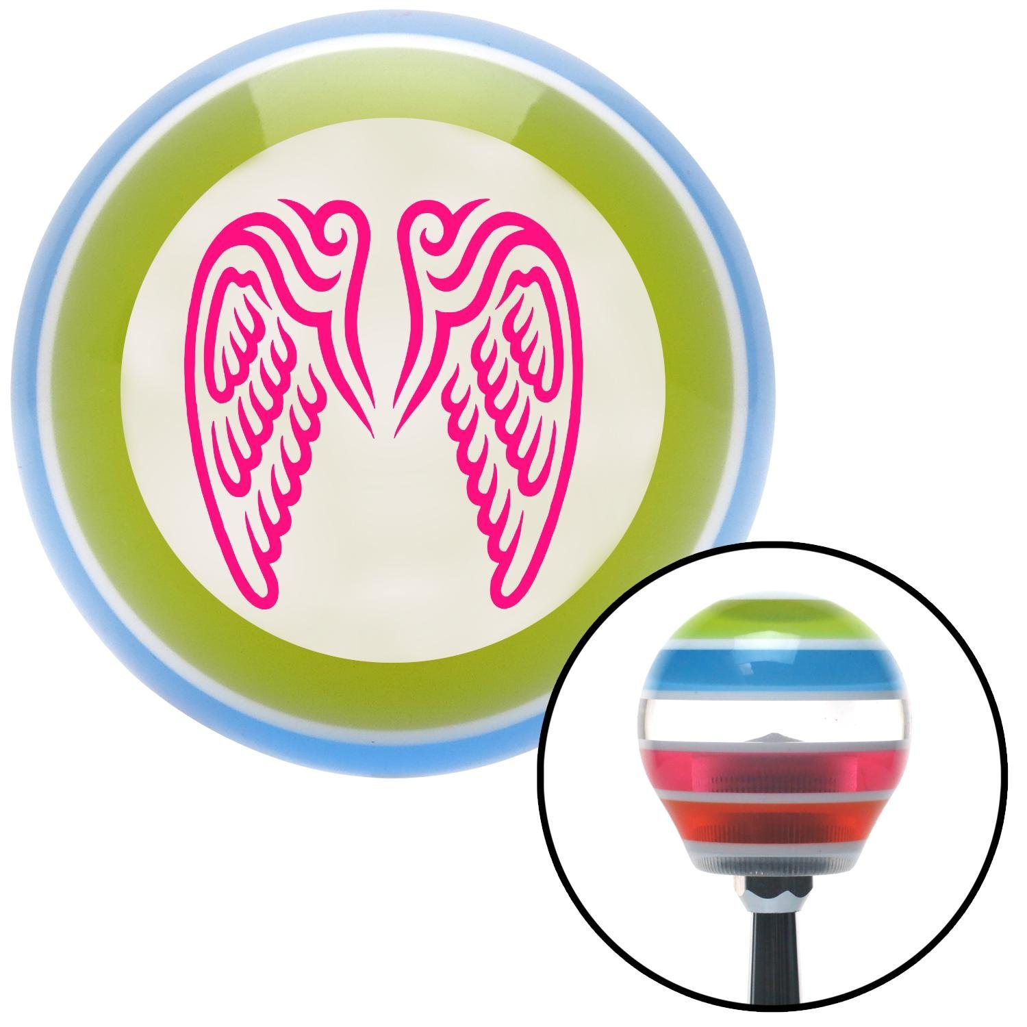American Shifter 133152 Stripe Shift Knob with M16 x 1.5 Insert Pink Wings Conjoined in Lure