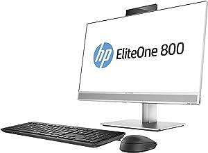 "HP 1JF76UT#ABA EliteOne 800 G3 23.8"" All-in-One PC - 8 GB RAM - 256 GB SSD - Intel HD Graphics - Black/Gray"