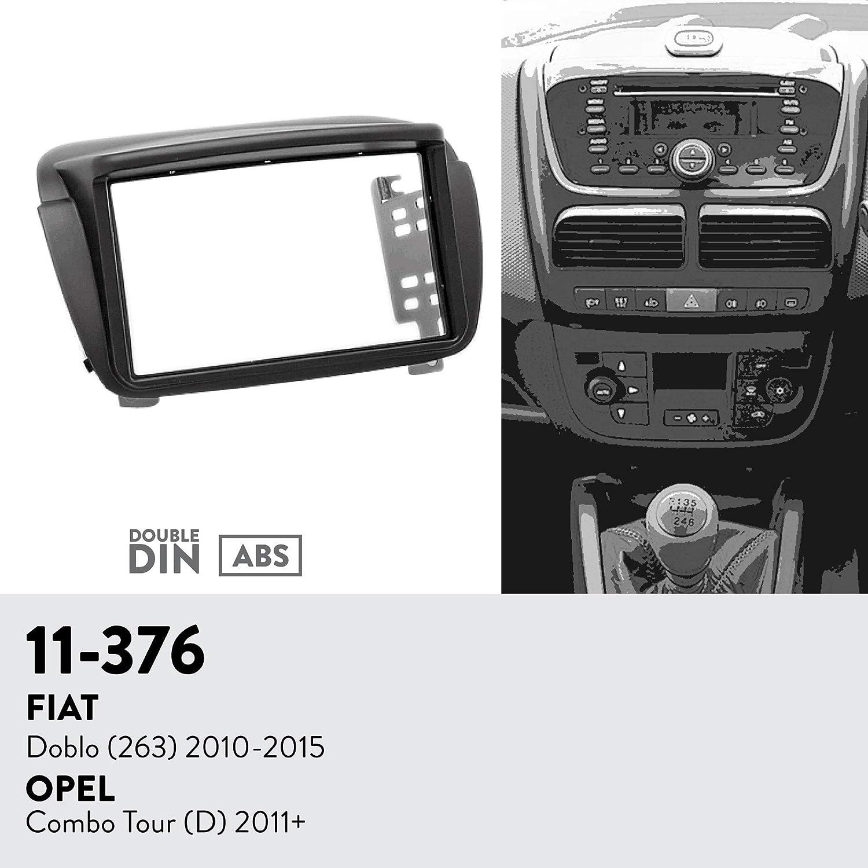 2011+ D UGAR EX6 7 Android 6.0 Car Stereo Radio Plus 11-376 Fascia Kit for FIAT Doblo 2010-2015 // OPEL Combo Tour 263