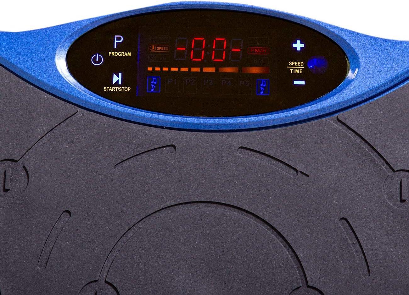 rutschfeste Standfl/äche kompaktes Design Fernbedienung Vibrationstrainer inkl Expanderb/ändern aktivshop Vibrationsplatte