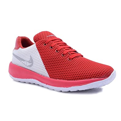 4f08601b3784 OMIKA Perfect Red AIR Sport Shoes for Men  Buy Online at Low Prices in  India - Amazon.in