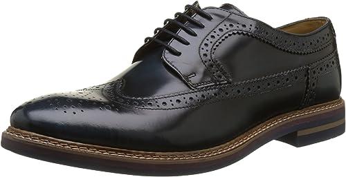 TALLA 41 EU. Base London Turner, Zapatos de Cordones Brogue para Hombre