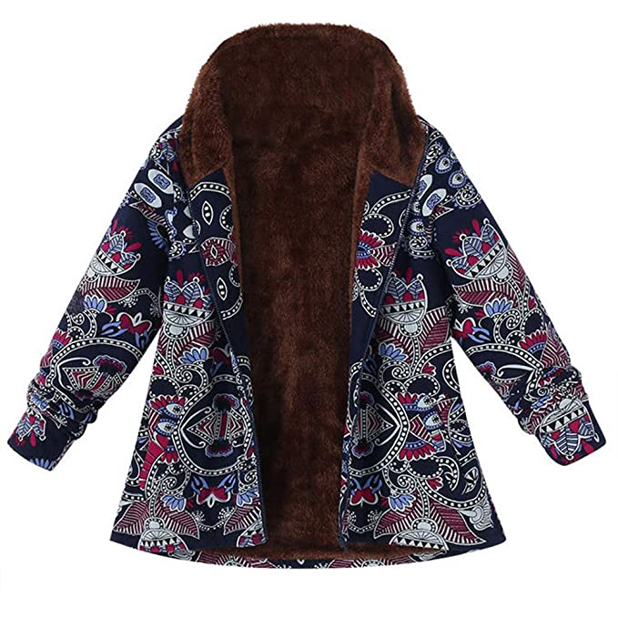 Luckycat Abrigo Invierno Mujer Chaqueta Suéter Jersey Mujer Cardigan Mujer Tallas Grandes Outwear Floral Bolsillos con
