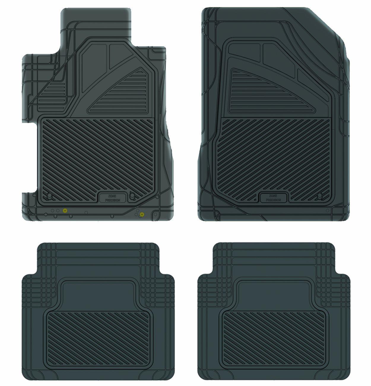 Grey Koolatron Pants Saver Custom Fit 4 Piece All Weather Car Mat for Select Honda Civic Models