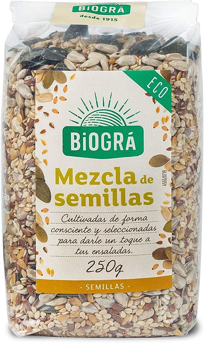 Biográ - Mix de Semillas de Girasol, Sésamo, Calabaza, Lino y Amapola (250 g): Amazon.es: Alimentación y bebidas