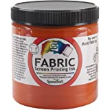 Speedball Art Products FSPI8-4569 Fabric Screen Printing Ink, 8-Ounce, Orange