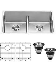 Double Bowl Kitchen Sinks Amazon Com Kitchen Amp Bath