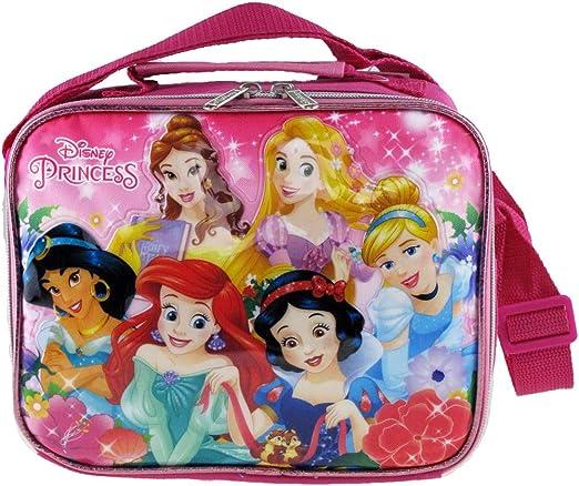 Bottle Set Childrens Kids Girls Baby Feeding New Disney Princess Lunch Box Bag