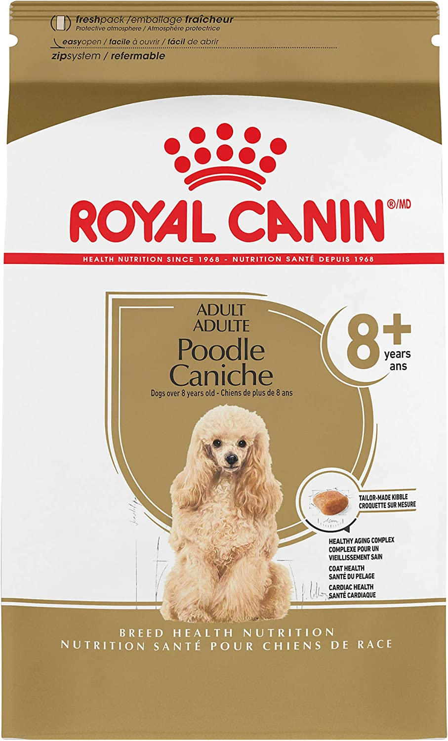 Royal Canin Poodle Adult 8+ Breed Specific Dry Dog Food for Senior Dogs, 3 lb. bag