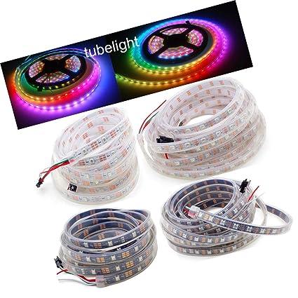 Amazon.com: Tira de luz LED 5050 RGB 30/60 LEDs píxeles ...