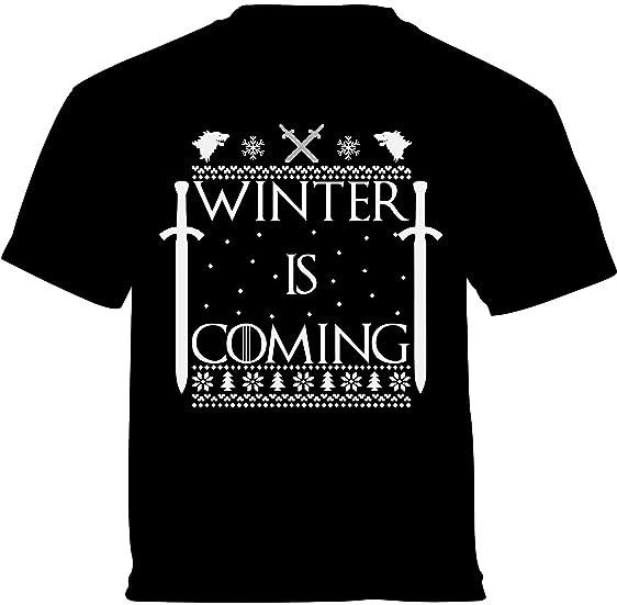 vizor winter is coming christmas shirts for boys and christmas shirts for girls black 6m - Christmas Shirts For Boys
