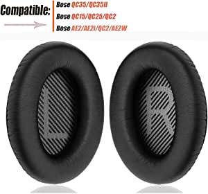 Bose Headphones Ear Pads Replacement Comfortable Noise Isolation Compatible for Bose QC35,QuietComfort 35II,QC25,QC15,QC2,AE2, AE2I, AE2W SoundTrue/SoundLink Around-Ear vezukv