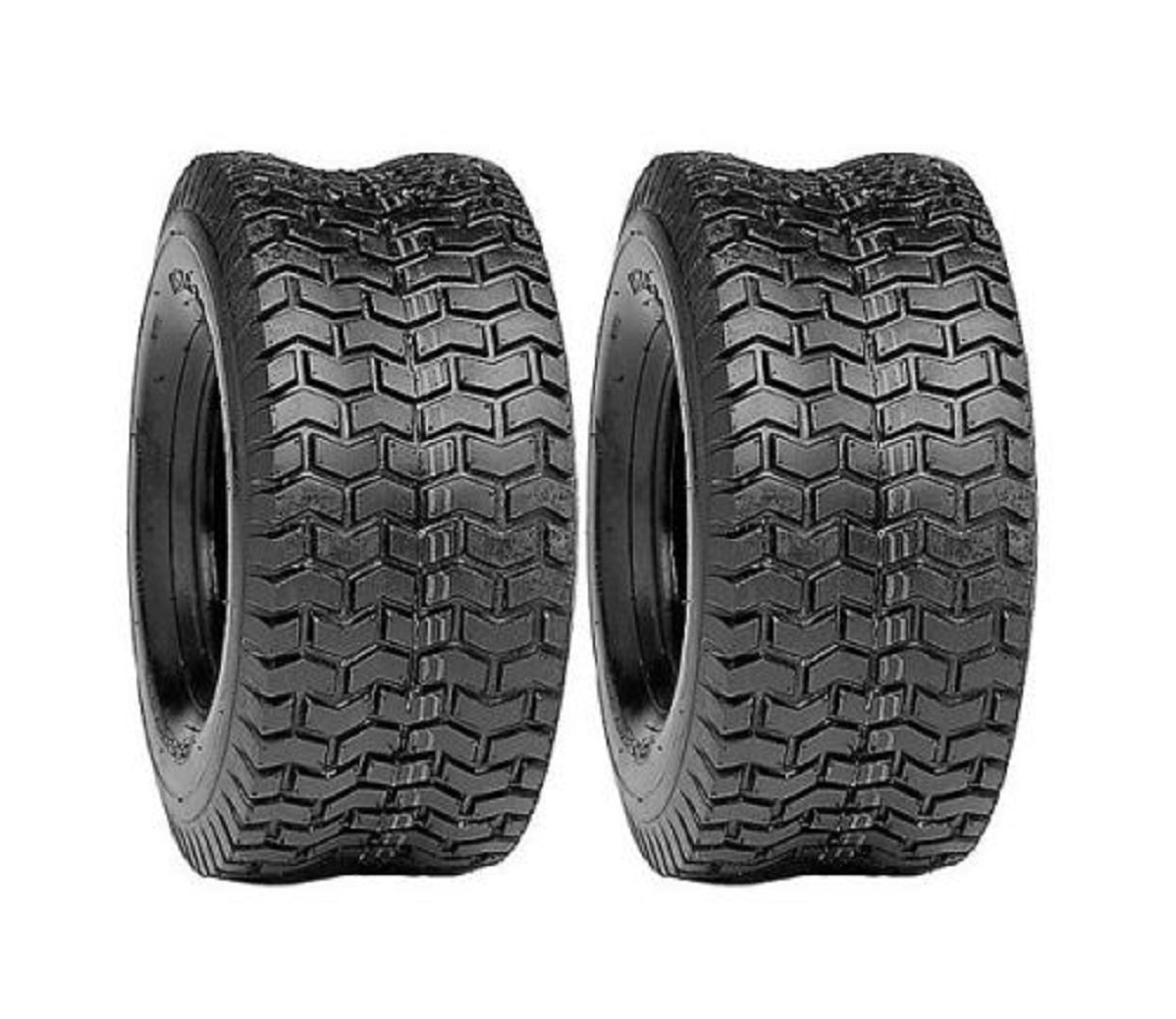 2 x TIRES New 15x6.00-6 TURF 4 Ply Tubeless Lawn Mower / Garden Tractor/ Rider