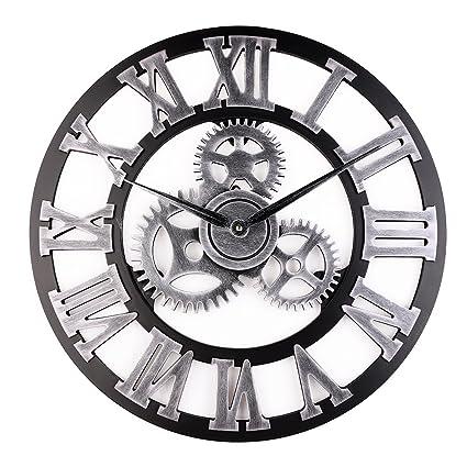 Vintage Clock, European Retro Vintage hechos a mano de madera del reloj de pared decorativos