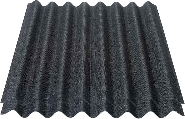 Onduline Easyline Dachplatte Wandplatte Bitumenwellplatten Wellplatte 2x0,76m/² schwarz