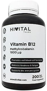 Vitamina B12 Metilcobalamina 1000 mcg | 200 comprimidos (Más de 6 meses de suministro) | Contribuye a la…