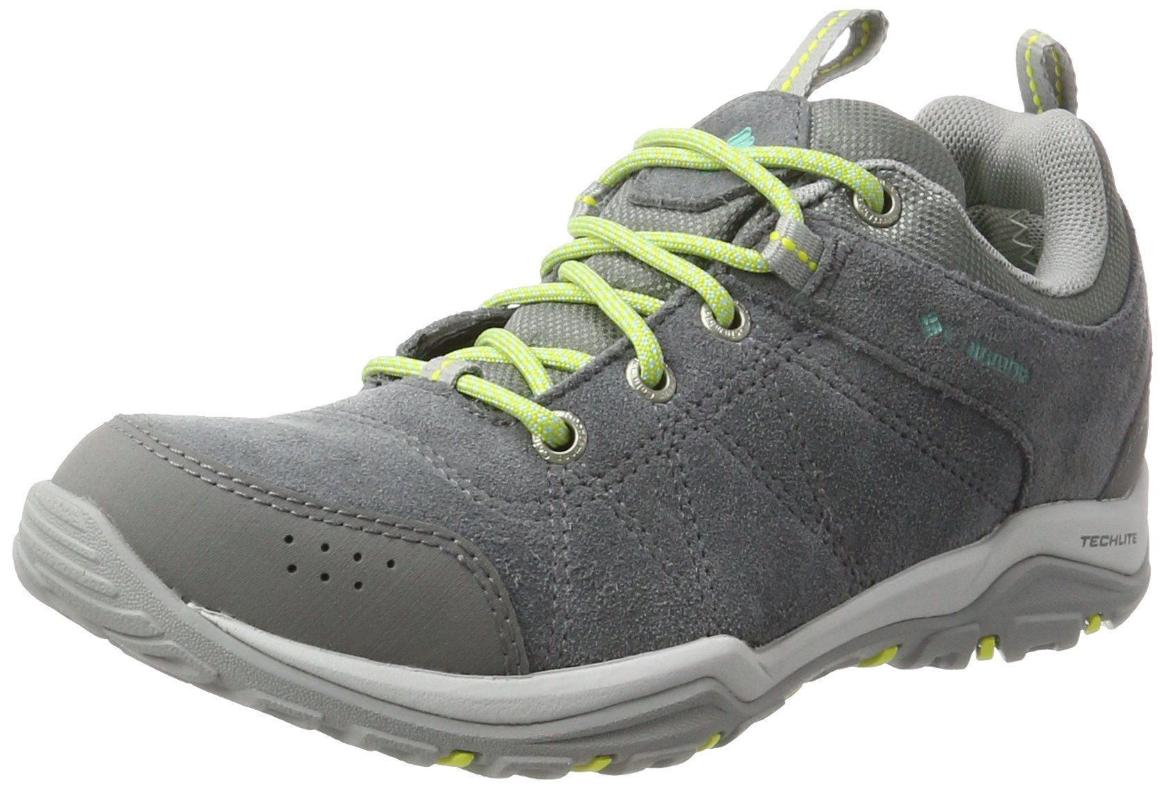 Columbia Women's Fire Venture Low Waterproof Hiking Shoe, Grey Steel/Aquarium, 8.5 B US