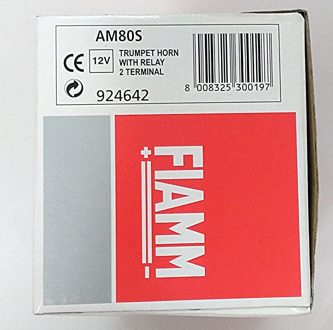 pair of fiamm am80s 12 v car motorcycle horns + relay: amazon co uk: car &  motorbike