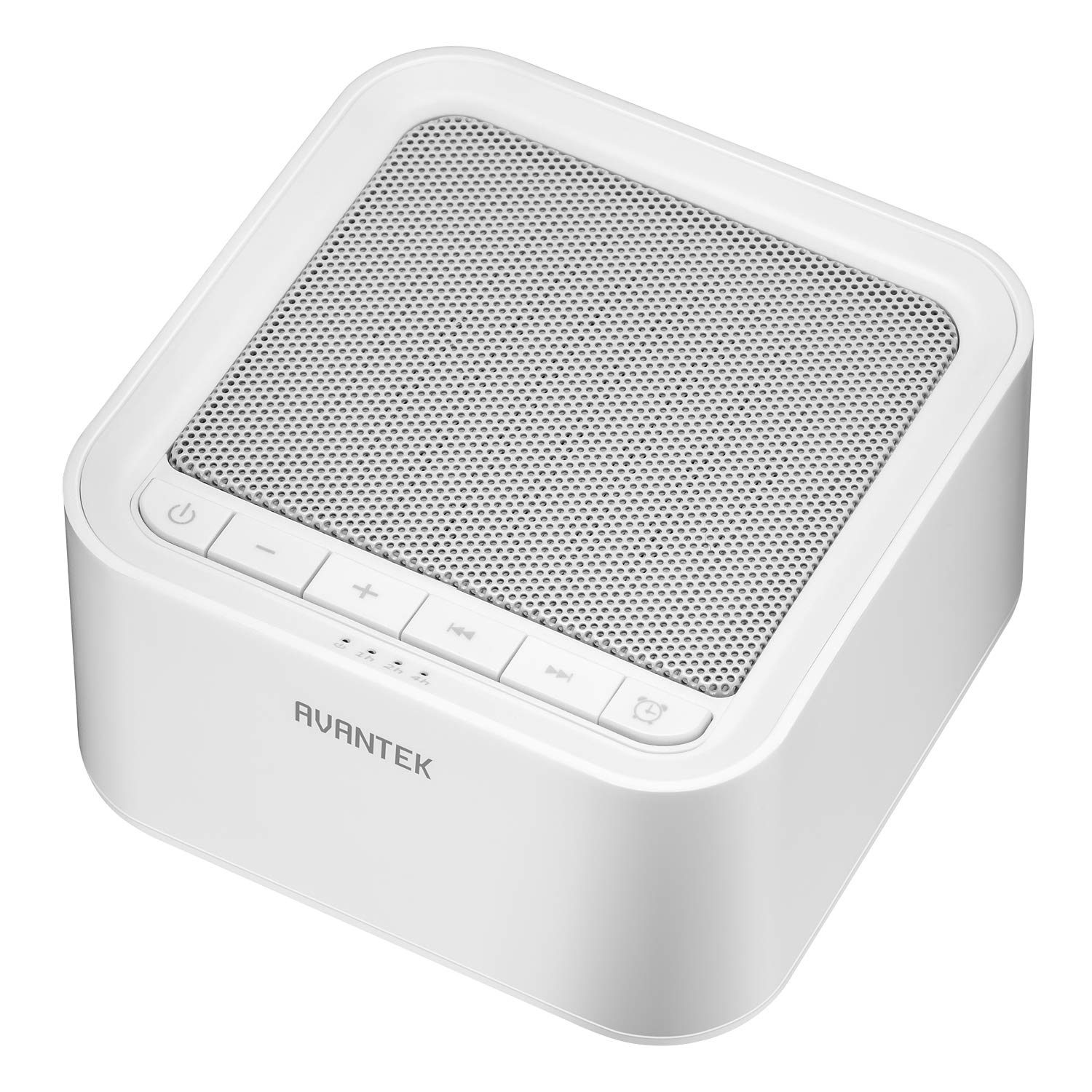 White Noise Machine, AVANTEK Sound Machine for Sleeping, 20 Non-Looping Soothing Sounds with High Quality Speaker & Memory Function, 30 Levels of Volume and 7 Timer Settings by AVANTEK