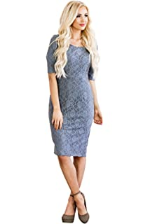 Mikarose June Modest Pencil Dress In Lace 07fc7f727