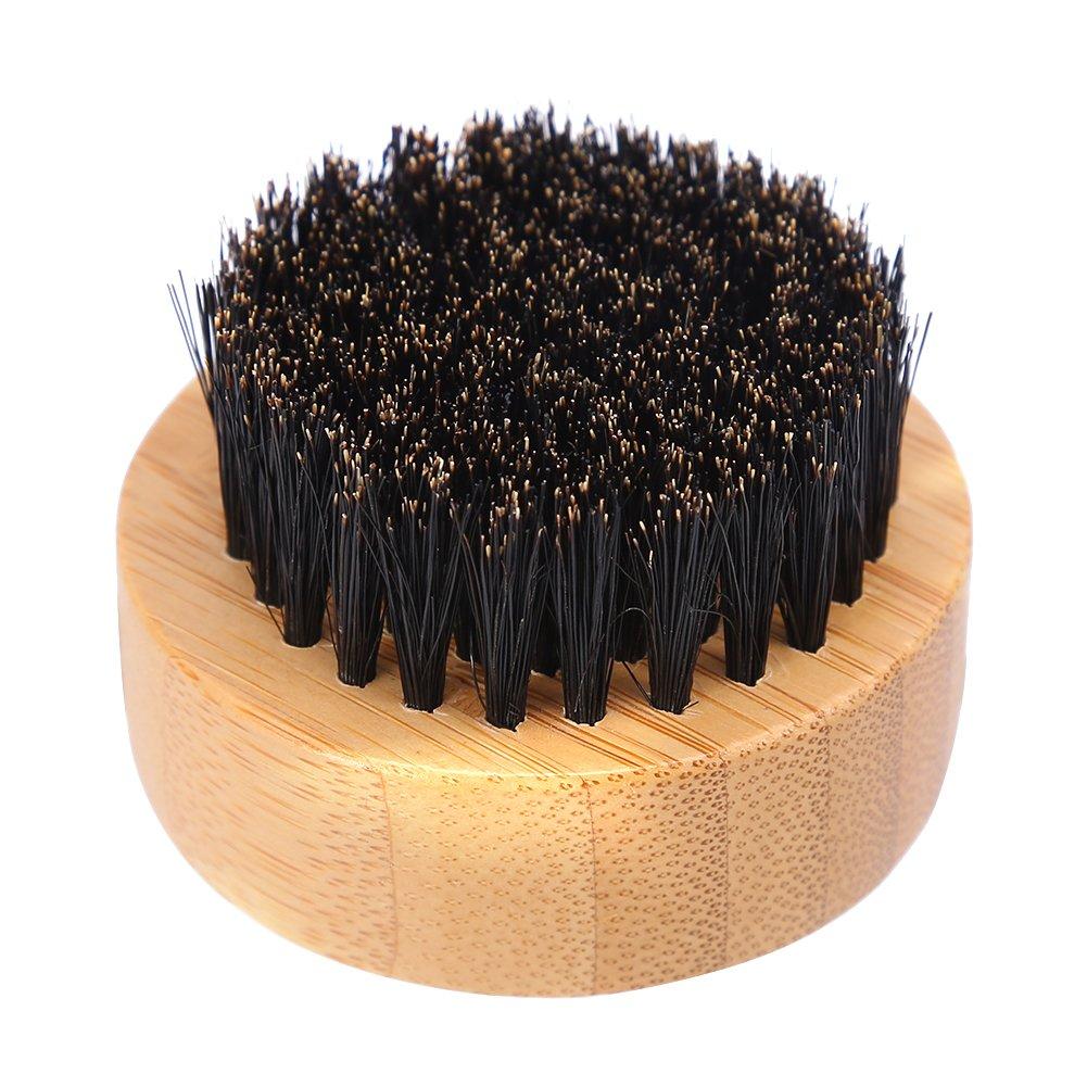 Beard Brush, Men Mustache Styling Boar Hair Beard Brush Facial Care Hair Comb for Home & Travel GLOGLOW