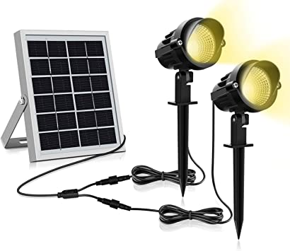 Luz Solar para Exterior, MEIKEE Foco Solar Blanca Cálido, 3000k Super Brillante Iluminación, 270º Gran Angular de Ajuste, Lámpara Solar Exterior Impermeable IP66 para Jardín/Camino/Terraza: Amazon.es: Bricolaje y herramientas