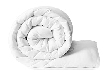 Amazon Brand - Solimo Microfibre Comforter, Single (White)
