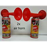 Ik-Onkar - original Supporters Loud Air Horn Pack of 2 for emergency fire alarm - Sport Event - party celebration-festival and many more