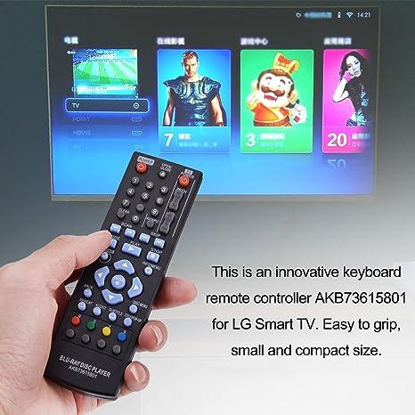 Fosa Mando a Distancia Teclado AKB73615801, Control Remoto de Reemplazo para LG Smart TV: Amazon.es: Electrónica