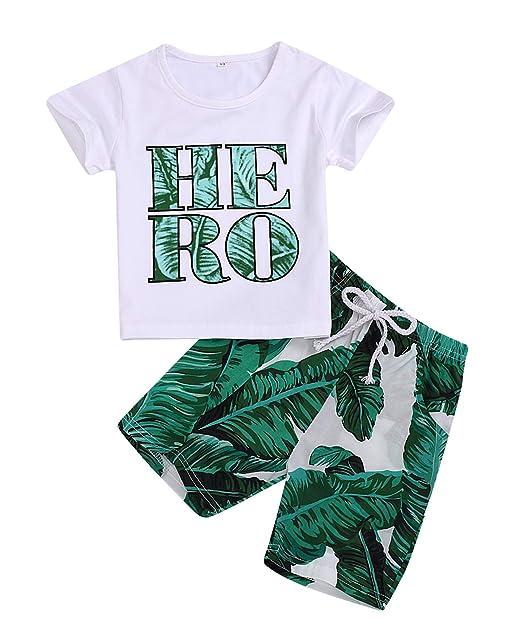 Amazon.com: Bebé niño niña Hero impresión blanco camiseta ...