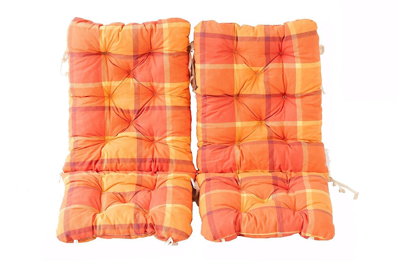 Ambientehome –  Set di 2 Cuscino Imbottito per Sedia Pieghevole, Turchese, ca. 90 x 40 x 8 cm, Cuscino Seduta Cuscino ca. 90x 40x 8cm 90589